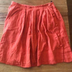Anthropologie Postmark Darline Dobby orange skirt
